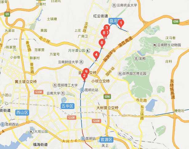昆明北京路属于哪个区?昆明北京路延长线是哪个区?
