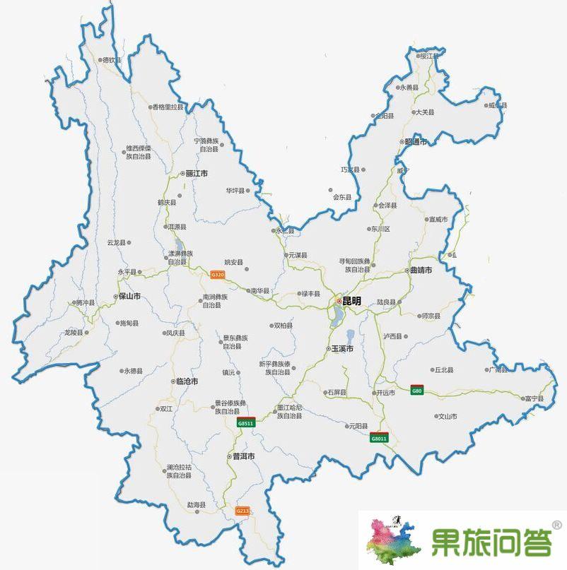 云南地图详细全图大图——云南地图中文版