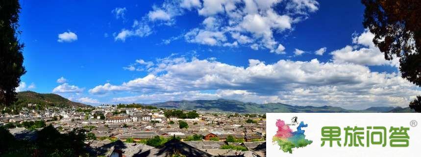 丽江全景图,云南丽江古城,全景地图