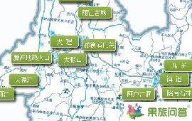 云南旅游路线地图图片云南旅游地图全图高清版