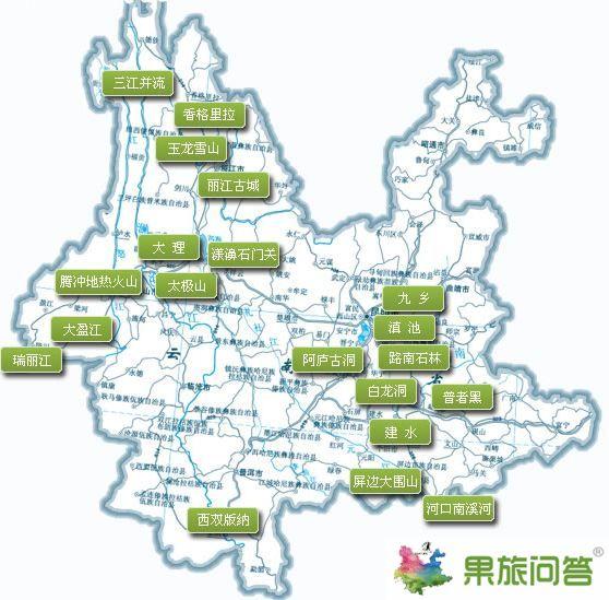 云南旅游景点地图图片