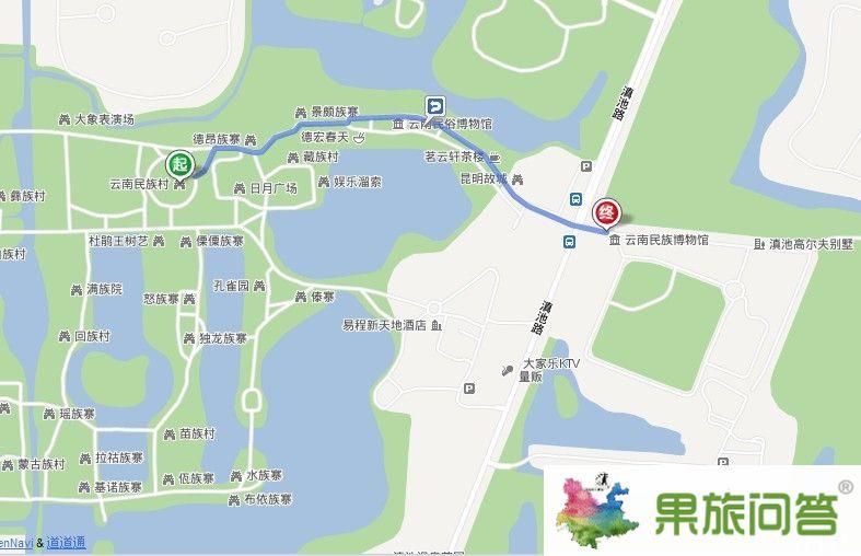 云南民族村到云南民族博物馆有多远?怎么走?